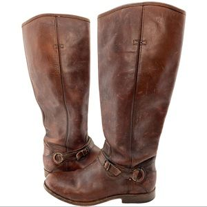 Frye Knee-High Leather Riding Boots size 10